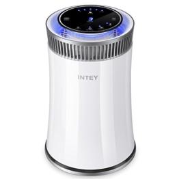 INTEY Luftreiniger HEPA-Filter Aktivkohlefilter Air Purifier Lonen Funktion/ Timer/ Nachtlicht 3-Stufen-Filterung 5-Stufen-Luftstromrate für Allergie Saison - Entfernt Staub, Feinstoffe, Haustiere Dander - 1