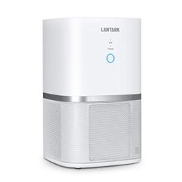 LANTARK 5 in 1 Luftreiniger mit HEPA Filter Luftreiniger Filtration für Allergien, Haustiere, Raucher, eliminiert Staub, Schimmelpilzsporen, Gerüche, Blütenstaub, Bakterie, Haustiere Schuppen, PM2.5, Perfekte Tisch Luftreiniger mit lautlos Betrieb - 1