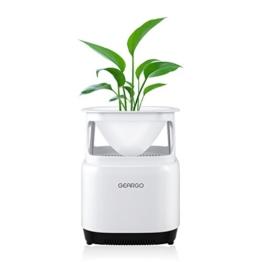 Luftreiniger GEARGO HEPA-Filter Aktivkohlefilter Air Purifier Luft-Ionisierer Luftbefeuchter mit Blumentopf perfekt für Allergiker, Raucher auch bei Hausstaubmilben-Allergie - 1