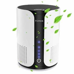 HIMOX Luftreiniger Allergie mit True HEPA Filter, Aktivkohlefilter, Aromatherapie, Ionisator Luftreiniger für Raucher, Allergiker gegen Staub, Rauch, Gerüche, Allergien, Pollen, Haustiergeruch - 1
