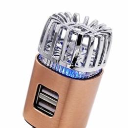 MCalle Auto Luftreiniger Lufterfrischer Ionisator DUAL USB (Kupfer) - 1