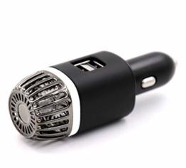 NIOSS Auto-Luftreiniger Ionisator mit 2x ultraschnellen USB-Ladeanschlüssen und weißem Atemluftlicht. Auto-Lufterfrischer, Ionisator, Ionen-Luftreiniger - entfernt Pollen, Rauch, unangenehme Gerüche - 1