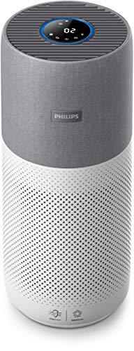 Philips AC3033/10 Luftreiniger Connected 3000I (für Allergiker und Raucher, bis zu 104M², Cadr 400M³/H, Aerasense-Sensor, mit App-Steuerung) weiß/silber - 1