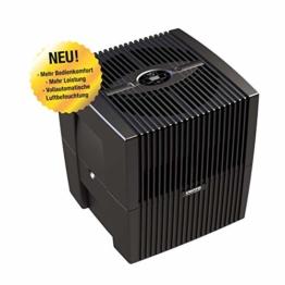 Venta Luftwäscher LW25 Comfort Plus Luftbefeuchter und Luftreiniger für Räume bis 45 qm, brillant schwarz, mit digitaler Steuerung - 1