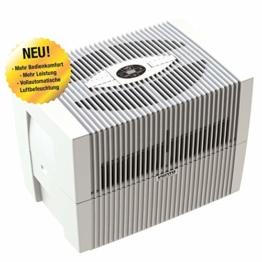 Venta Luftwäscher LW45 COMFORTPlus Luftbefeuchter und Luftreiniger für Räume bis 80 qm, brilliant weiss, mit digitaler Steuerung - 1
