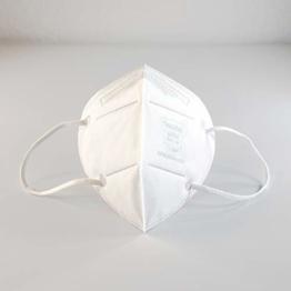 FFP2 Premium Atemschutzmasken in luftdichter Einzelverpackung vom Deutschen Hersteller, 4-Schichten Schutz der Atemwege mit CE (NB2841), 10 STK. - 1