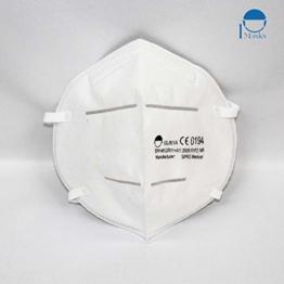 Hochwertige Atemschutzmasken der Klasse FFP2 NR in luftdichter Einzelverpackung, Particle Filtering Half Masks mit CE (NB0194), 5 STK. - 1