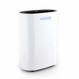 Klarstein AeroDry 10 Luftentfeuchter - Luftreiniger, Raumentfeuchter, 265 Watt, 10 Liter/Tag, 135 m³/h, für Räume bis 25 m², programmierbar, DrySelect, nur 37 dB, Timer-Funktion, weiß - 1