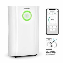Klarstein DryFy Pro Connect Luftentfeuchter Dehumidifier Kompressionsluftentfeuchter, integrierter Luftreiniger mit Filter, Ionisator und UV-Funktion, WiFi-Schnittstelle, 370 W Leistung, weiß - 1