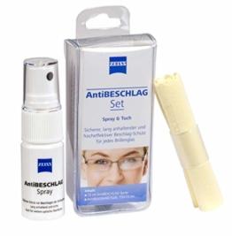 Zeiss AntiBESCHLAG Set (Spray 15ml + Tuch), effektiver Schutz vor beschlagenden, Brillen- Antibeschlag Set - 1